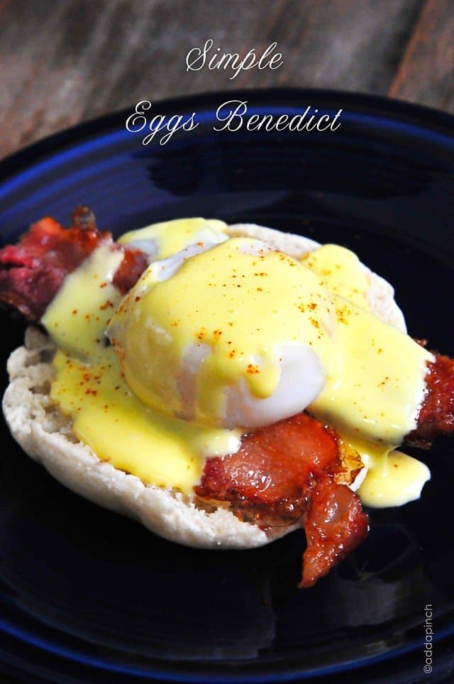 Eggs Benedict Recipe // addapinch.com
