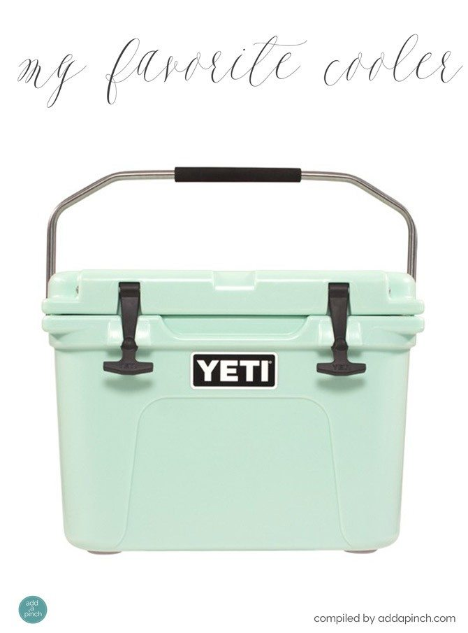 My Favorite Yeti Cooler Giveaway from addapinch.com
