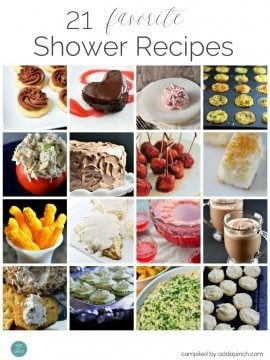 21 Favorite Shower Recipes