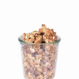 Honey Nut Granola Recipe - This honey nut granola recipe makes an easy, yet exceptional homemade granola. One recipe makes plenty for a week's worth of parfaits, sprinkles for ice cream, breakfast and snacks or even to share! // addapinch.com