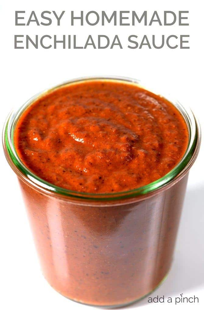 ... family-favorite easy homemade enchilada sauce recipe. // addapinch.com