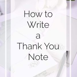 How to Write a Thank You Note in 3 Easy Steps // addapinch.com