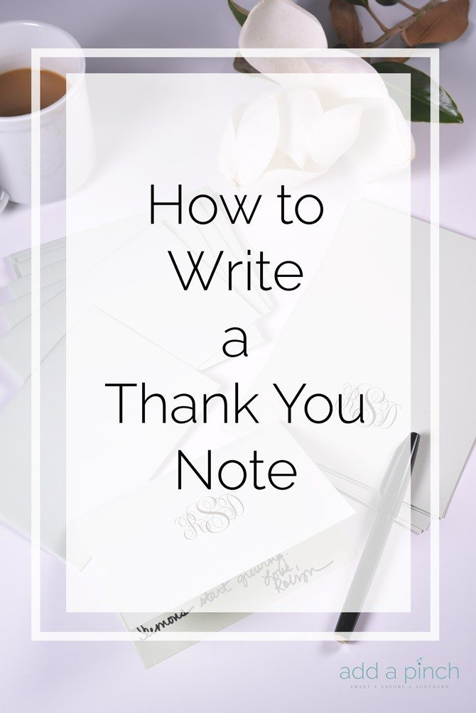 steps to writing a thank you letter