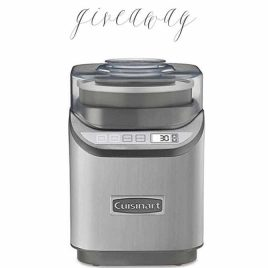 Ice Cream Maker Giveaway from addapinch.com