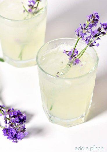 Lavender Lemonade Recipe from addapinch.com