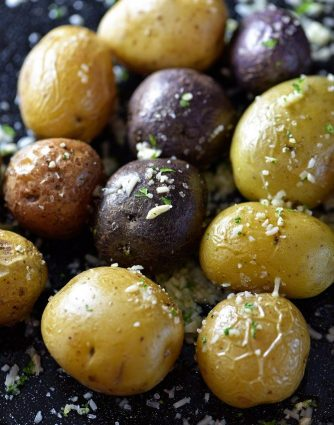Parmesan Roasted Potatoes make a delicious side dish! So easy and perfect for a weeknight supper! // addapinch.com