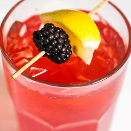 Blackberry Lemonade makes a delicious and refreshing lemonade recipe perfect for a signature sweet sip! // addapinch.com