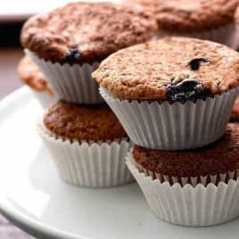 Blueberry Banana Bread Muffins make a delicious treat for breakfast or an delicious snack! // addapinch.com