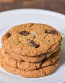 Brown Butter Chocolate Chunk Cookies Recipe // addapinch.com