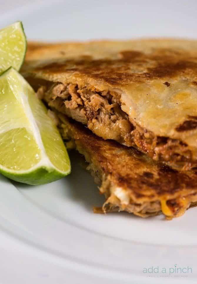 Pulled Pork Quesadillas Recipe - Add a Pinch