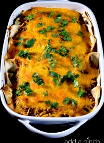 Easy Beef and Bean Enchilada Recipe