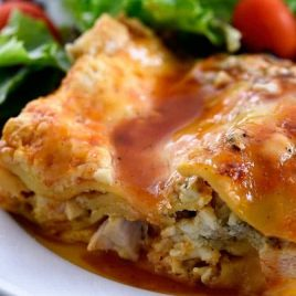 Buffalo Chicken Lasagna combines two favorite dishes in one - buffalo chicken and lasagna! // addapinch.com