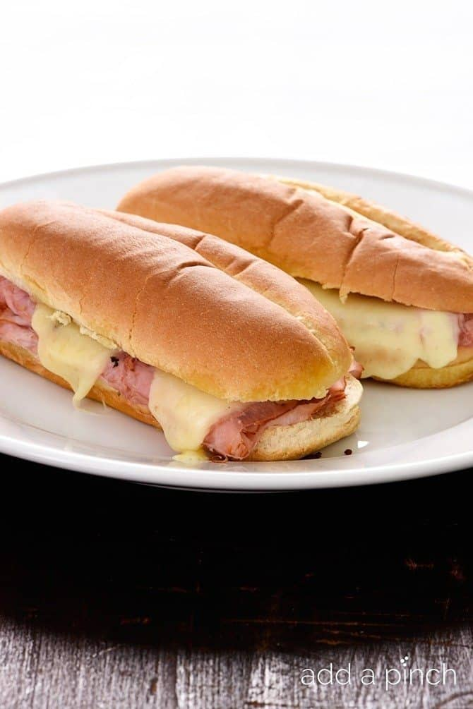 Hot Ham And Cheese Sandwiches Recipe Add A Pinch