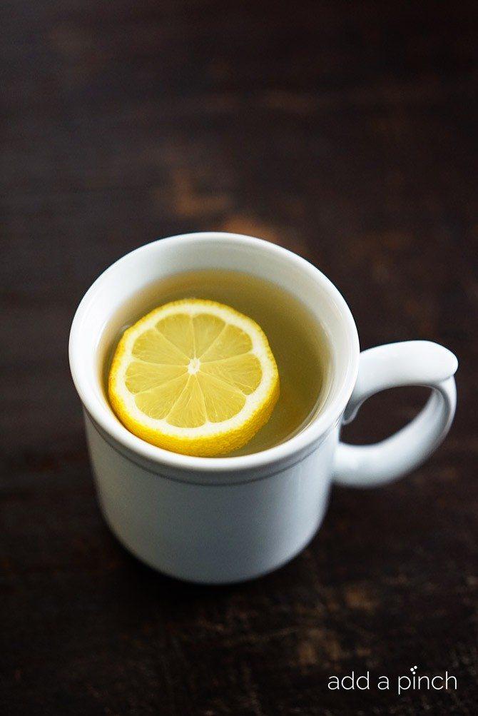 Lemon Water with Honey // addapinch.com