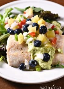 Baked Mahi Mahi with Pineapple Blueberry Salsa Recipe
