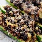 Black Bean Quinoa Stuffed Zucchini Recipe