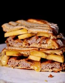 Pork Tenderloin Apple Brie Panini makes a quick and delicious meal! // addapinch.com