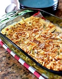 Bacon and Green Bean Casserole Recipe // addapinch.com