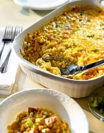 Wisconsin Cheesy Corn Casserole // addapinch.com