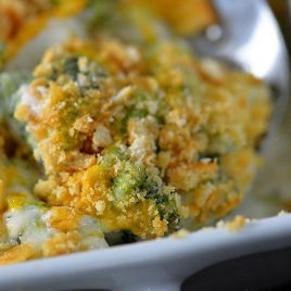 Broccoli Cheese Casserole makes a delicious side dish. A family favorite broccoli cheese casserole that everyone is sure to love. // addapinch.com
