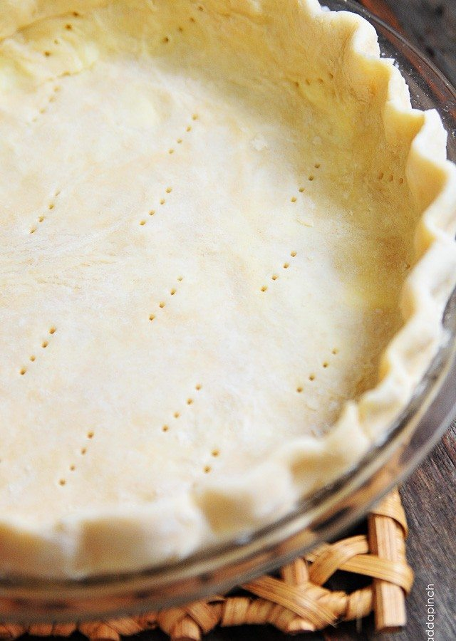 Perfect Pie Crust Recipe - A pie crust recipe that works perfectly for sweet and savory pies. This pie crust recipe is made by hand and makes a perfect pie crust every single time! // addapinch.com