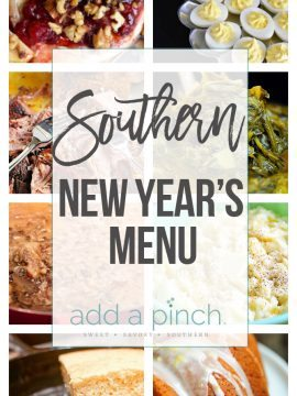 Southern New Year's Menu