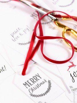 Printable Christmas Gift Tags!