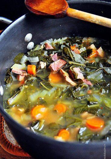 Southern Pot Likker Soup //addapinch.com