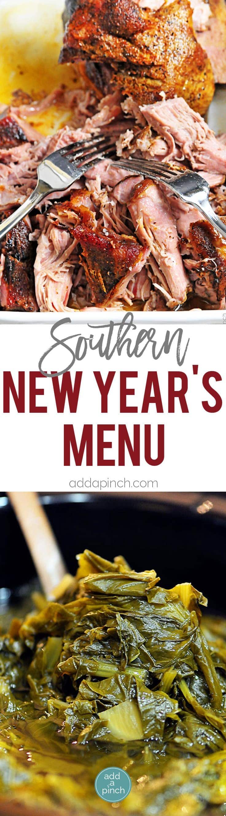 Southern New Year's Menu - Southern New Year's Menu perfect for celebrating the first day of the new year! Said to bring money, luck and prosperity in the new year!  // addapinch.com