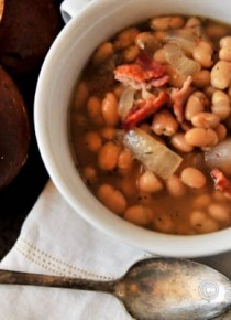 White Bean Soup with Bacon Recipe