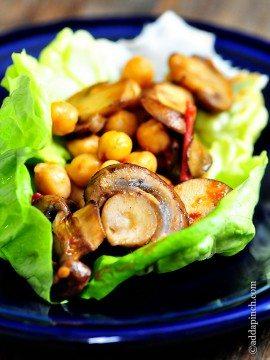 Mushroom Lettuce Wraps Recipe