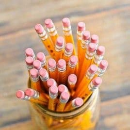 Pencils in jar - addapinch.com