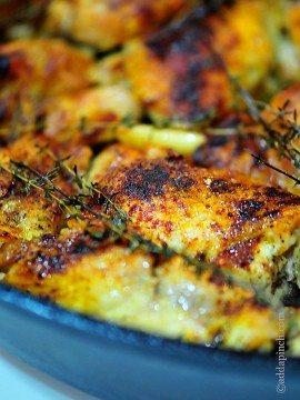 Skillet Roasted Chicken Recipe