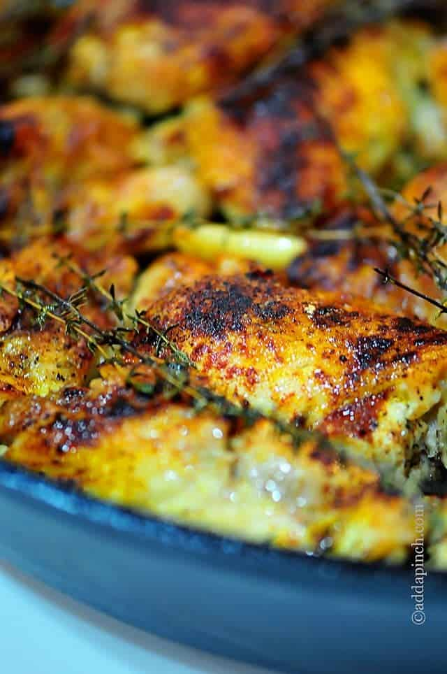 Skillet roasted chicken recipe add a pinch ccuart Gallery