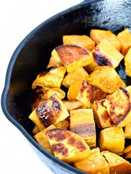 Skillet Roasted Sweet Potatoes Recipe