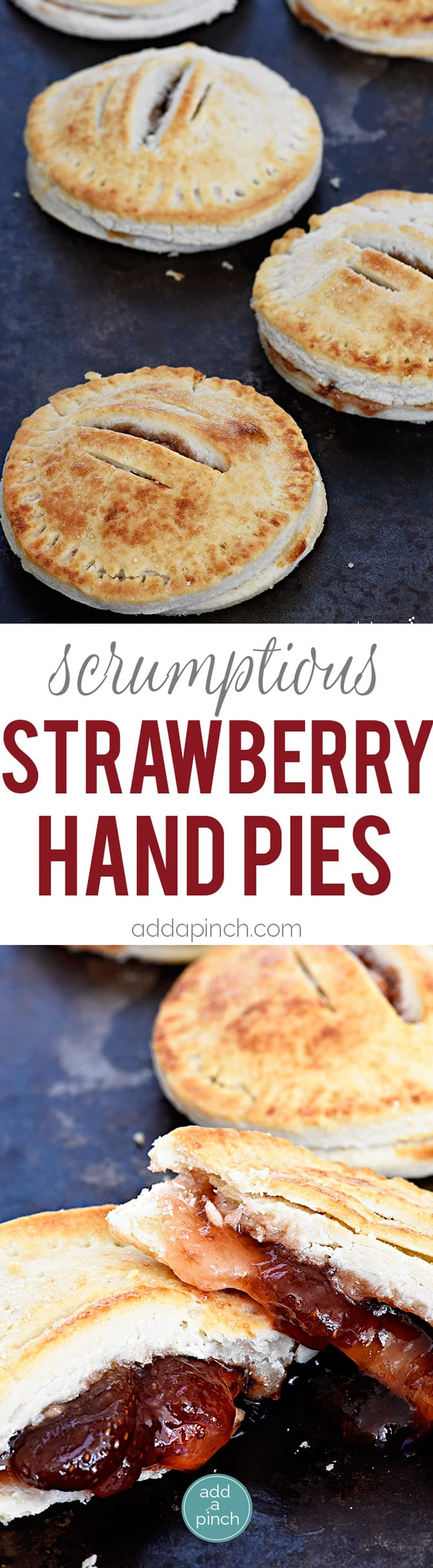 strawberry hand pies are the cutest and simplest little portable pies ...