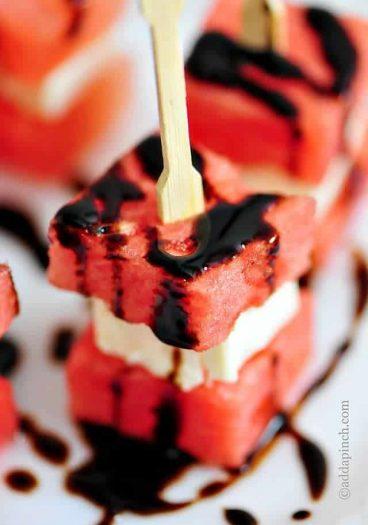 Watermelon Feta Bites Recipe // addapinch.com