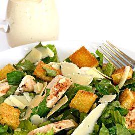 Chicken Caesar Salad Recipe - This Chicken Caesar Salad recipe makes an easy salad recipe perfect for lunch or supper! // addapinch.com