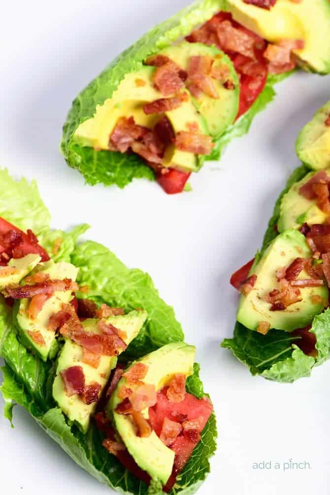 BLT Avocado Lettuce Wraps Recipe - BLT Avocado Lettuce Wraps make a ...