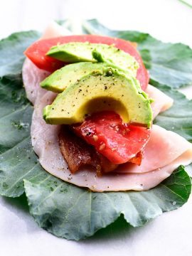 Turkey Bacon Avocado Collard Wraps Recipe