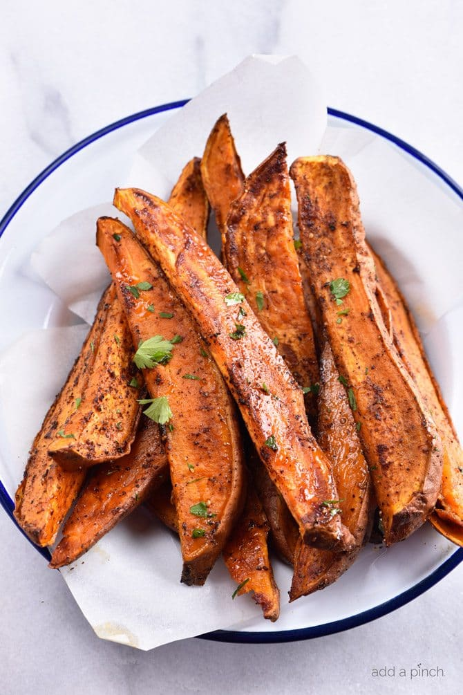 Spicy Roasted Sweet Potato Wedges Recipe Add A Pinch