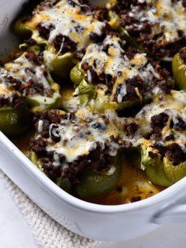 Chili Stuffed Peppers Recipe