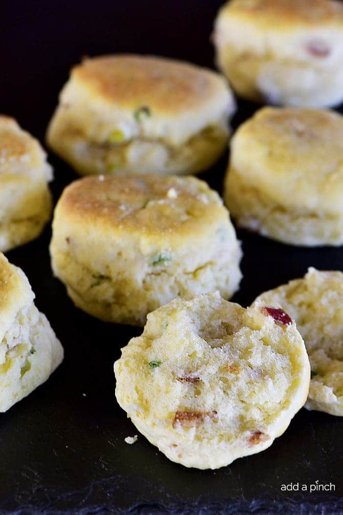 Bacon Onion Cheddar Biscuits Recipe — Dishmaps