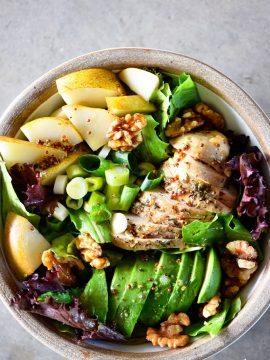 Fall Chicken Avocado Pear Salad Recipe