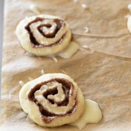 These Cinnamon Honey Bun Cookies make a delicious cookie perfect for your holiday cookie platter! // addapinch.com