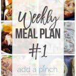 Weekly Meal Plan #1
