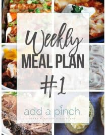 Weekly Meal Plan #1 // Sharing our Weekly Meal Plan with make-ahead tips, freezer instructions, and ways make supper even easier! // addapinch.com
