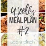Weekly Meal Plan #2