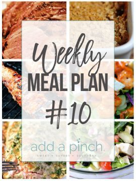 Weekly Meal Plan #10