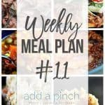 Weekly Meal Plan #11
